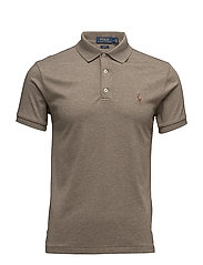 Slim Fit Soft-Touch Polo - PARTRIDGE HEATHER