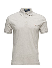 SLIM FIT SOFT-TOUCH POLO - LIGHT STONE HEATHER