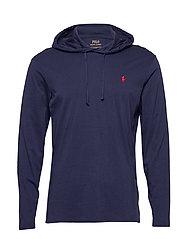Cotton Jersey Hooded T-Shirt - NEWPORT NAVY