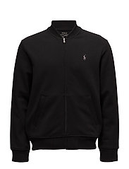 Double-Knit Bomber Jacket - POLO BLACK
