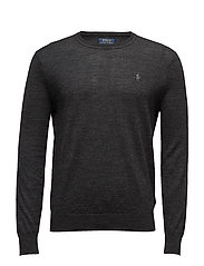 SLIM FIT MERINO WOOL SWEATER - DARK GRANITE HEAT