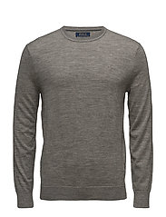 Merino Wool Crewneck Sweater - METALLIC GREY HEA