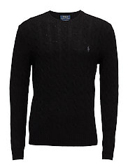 Wool-Cashmere Cable-Knit Sweater - POLO BLACK