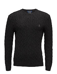 WOOL CASHMERE-LS CABLE CN - DARK GRANITE HEAT