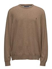 Merino Wool Crewneck Sweater - HONEY BROWN HEATHER
