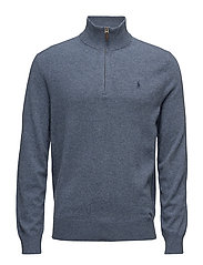 Merino Wool Half-Zip Sweater - SUPPLY BLUE HEATH