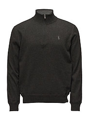 Cotton Half-Zip Sweater - WINDSOR HEATHER