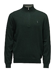 Cotton Half-Zip Sweater - LANDMARK GREEN HE