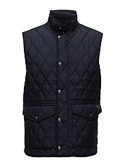 MATTE FINE POLY-PEMBRY QUILTED VEST - COLLEGE NAVY