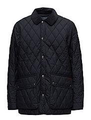 The Iconic Quilted Car Coat - COLLEGE NAVY
