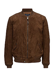 Suede Bomber Jacket - COUNTRY BROWN