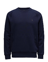DOUBLE KNIT TECH-LSL-KNT - FRENCH NAVY