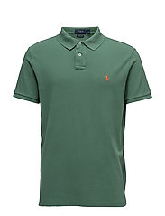 Custom Slim Fit Weathered Mesh Polo - ANTIQUE GREEN