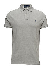 CUSTOM SLIM FIT WEATHERED MESH POLO - ANDOVER HEATHER