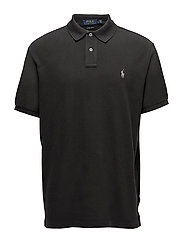 Custom Slim Fit Weathered Mesh Polo - DARK CARBON GREY