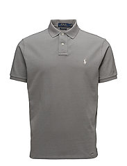 Custom Slim Fit Weathered Mesh Polo - PERFECT GREY/SP18