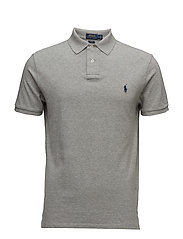 Slim Fit Weathered Mesh Polo - ANDOVER HEATHER