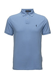Slim Fit Weathered Mesh Polo - NEW HARBOR BLUE