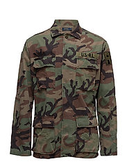 Standard Fit Cotton Overshirt - 1956 RL CAMO PRIN