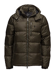 Quilted Ripstop Down Jacket - DARK LODEN