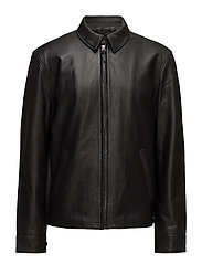 Lambskin Leather Jacket - POLO BLACK