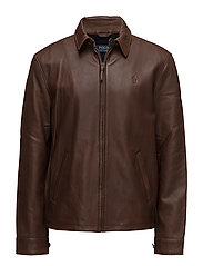 Lambskin Leather Jacket - BISON BROWN