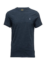 Custom Slim Fit Cotton T-Shirt - BLUE ECLIPSE HEAT