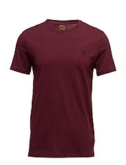 Custom Slim Fit Cotton T-Shirt - FALL BURGUNDY