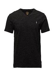 Custom Slim Cotton T-Shirt - BLACK MARL HEATHE