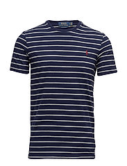 Custom Slim Fit Cotton T-Shirt - FRENCH NAVY/ANDOV