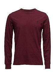 Custom Slim Fit Cotton T-Shirt - FALL BURGUNDY