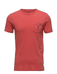 Custom Slim Fit Cotton T-Shirt - EVENING POST RED