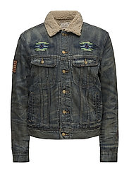 Fleece-Lined Denim Jacket - GOODMAN EMBROIDER