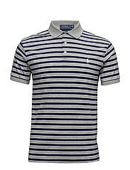 Slim Fit Soft-Touch Polo - ANDOVER HEATHER M