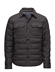Quilted Down Shirt Jacket - WINDSOR HEATHER