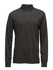 Custom Slim Fit Long-Sleeve Polo - BRISTOL HEATHER