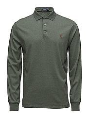 Custom Slim Fit Long-Sleeve Polo - DENIM GREEN HEATH