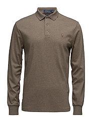 Custom Slim Fit Cotton Mesh Polo - PARTRIDGE HEATHER