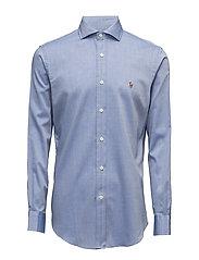 Cotton Twill Sport Shirt - 1993A DARK BLUE/W