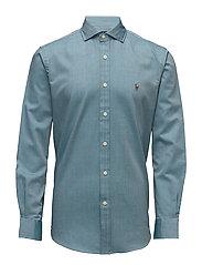 Cotton Twill Sport Shirt - 1993C FOREST/WHIT