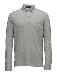 Hampton Cotton Jersey Shirt - ANDOVER HEATHER