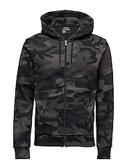 Camo-Print Cotton-Blend Hoodie - GREY MULTI CAMO