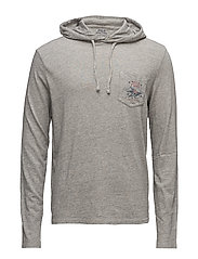 Custom Slim Fit Hooded T-Shirt - FLATIRON HEATHER