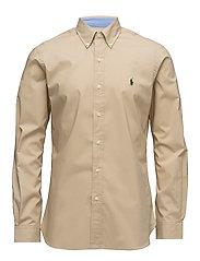 Slim Fit Cotton Poplin Shirt - DUSTY TAN