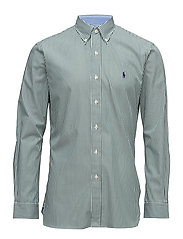 Slim Fit Cotton Poplin Shirt - 1994D GREEN/WHITE