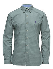 Slim Fit Cotton Poplin Shirt - 2092B GREEN/WHITE