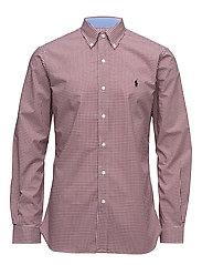 Slim Fit Cotton Poplin Shirt - 2092C BURGUNDY/WH
