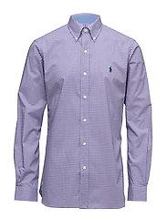 Slim Fit Cotton Poplin Shirt - 2092E LAVENDER/WH
