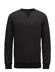 Cotton-Blend-Fleece Sweatshirt - CHARCOAL HERRINGB