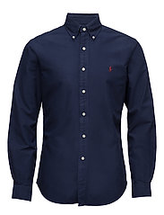 Slim Fit Cotton Oxford Shirt - WINDSOR NAVY